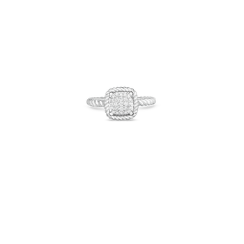 #26776 Of 18Kt New Barocco Square Shape Diamond Ring