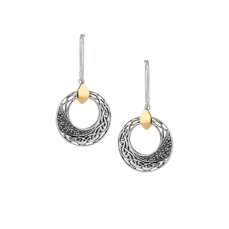 Keith Jack Comet Round Hook Earrings