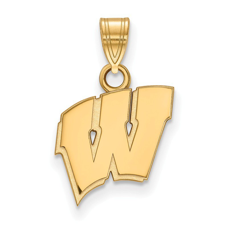 NCAA Gold-Plated Sterling Silver University of Wisconsin NCAA Pendant
