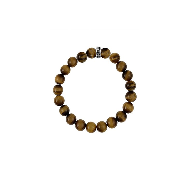 King Baby 12Mm Red Tiger Eye Plain Beaded Bracelet W/ Logo Ring