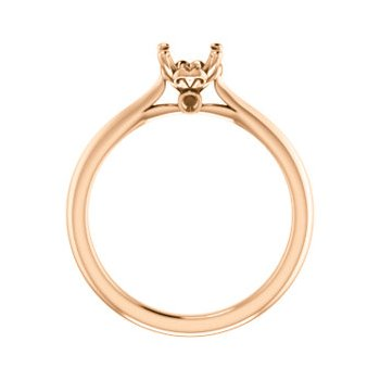 18K Rose 5.8 mm Round Engagement Ring Mounting