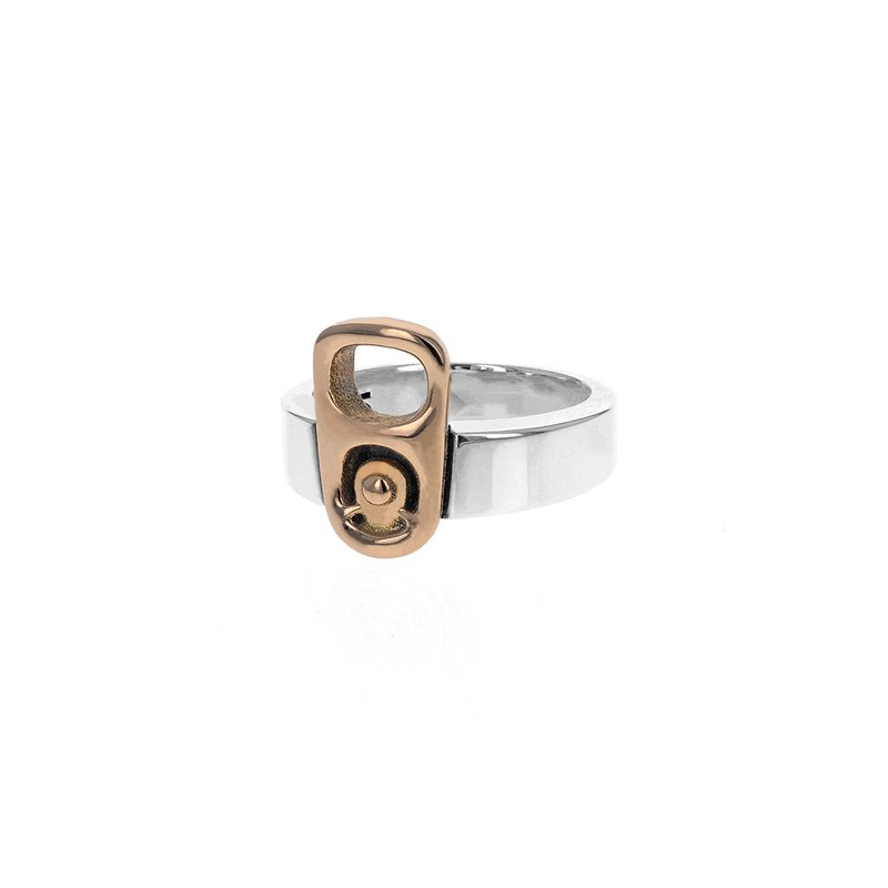 King Baby Pop Top Ring With 18K Gold