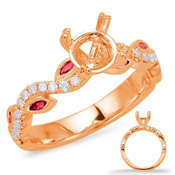 Rose Gold & Ruby Engagement Ring