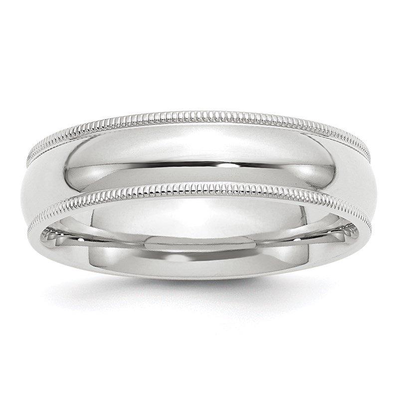 14K White Gold 2.5mm LTW Flat Men/'sLadies Wedding Band Ring