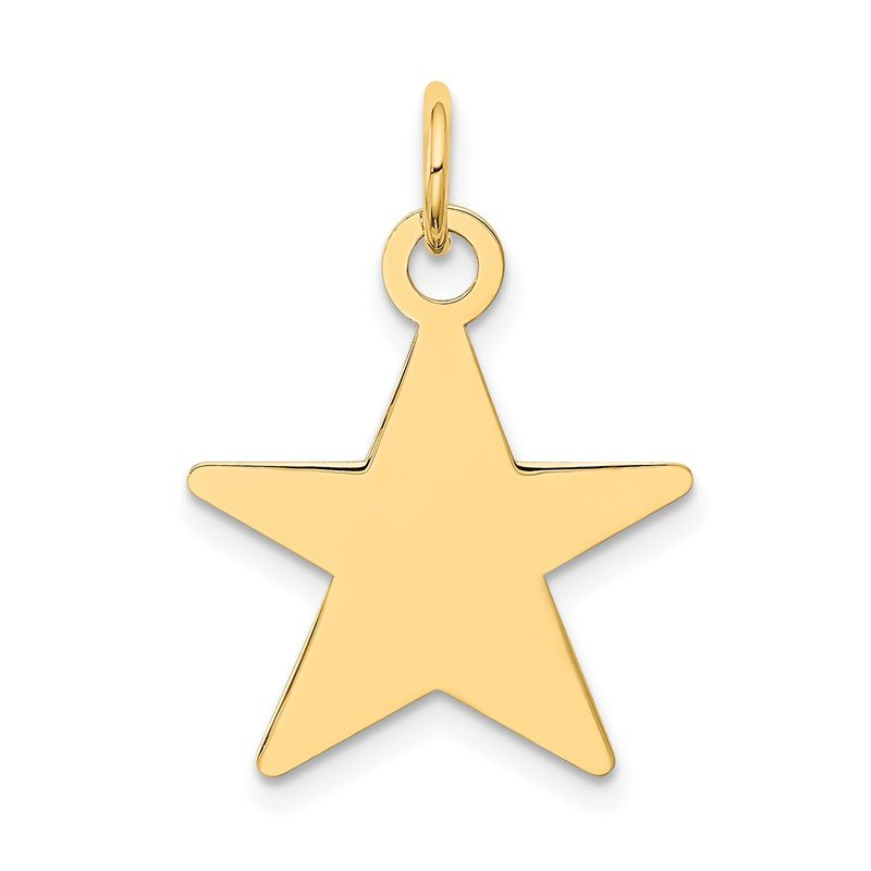 Quality Gold 14K Star Disc Charm