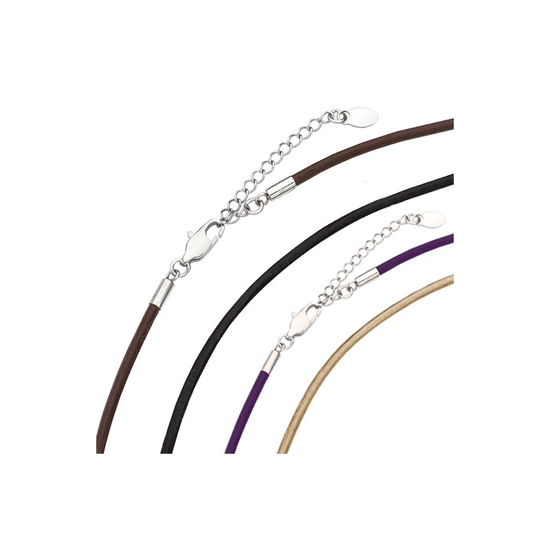 "Kameleon Kameleon Kameleon Violet Leather 20"" Necklace"