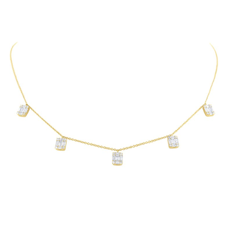KC Designs Floating Diamond Mosaic Station Necklace Set in 14 Kt. Gold