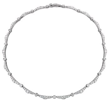 9.35 ctw. Lorelei Ribbon Diamond Line Necklace