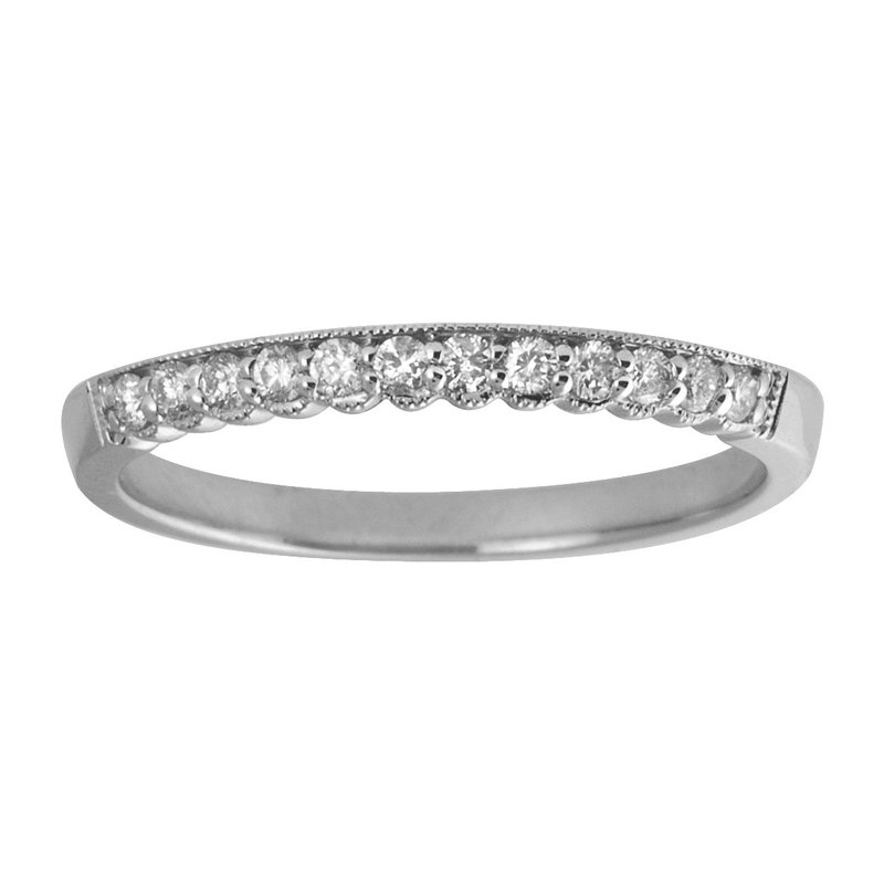 Color Merchants 14K White Gold Diamond Band Ring
