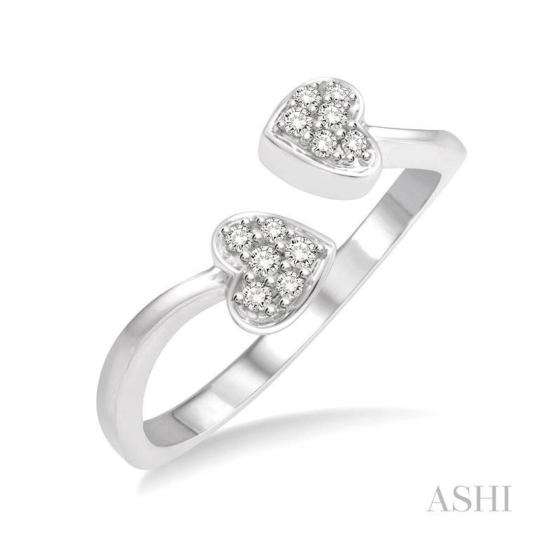 Gemstone Collection heart shape diamond ring