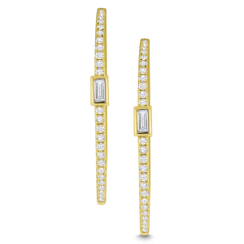 KC Designs Diamond Mosaic Hoop Earrings Set in 14 Kt. Gold