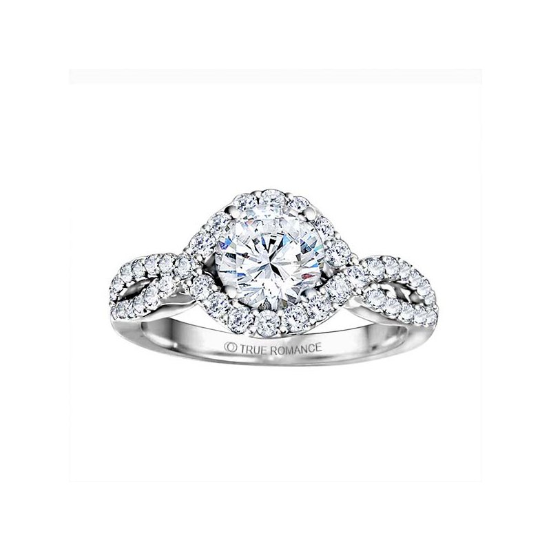 True Romance Round Cut Diamond Infinity Engagement Ring