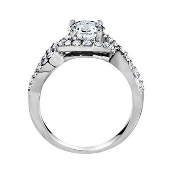 Round Cut Diamond Infinity Engagement Ring
