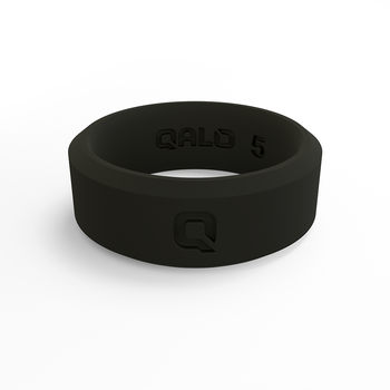 Women's Modern Black Silicone Ring