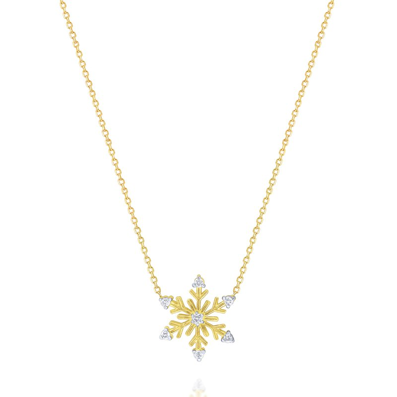 KC Designs 14K Diamond Snowflake Necklace