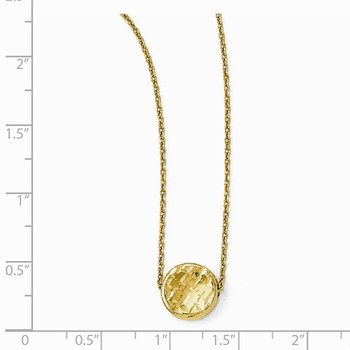 Leslie's 14k Polished Diamond-cut Round Necklace