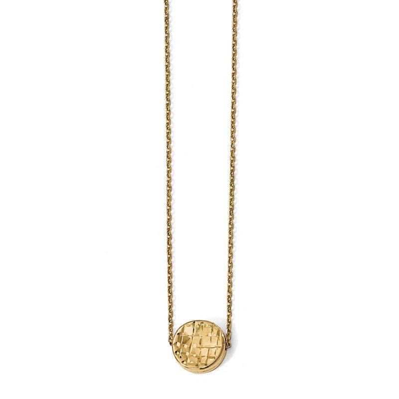 Leslie's Leslie's 14K Polished D/C Round Necklace