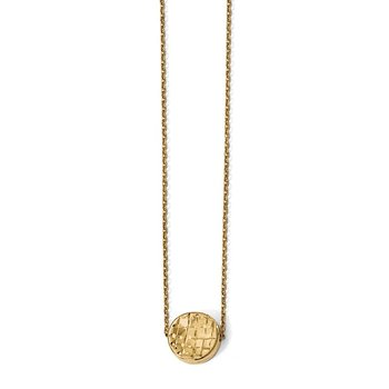 Leslie's 14K Polished D/C Round Necklace