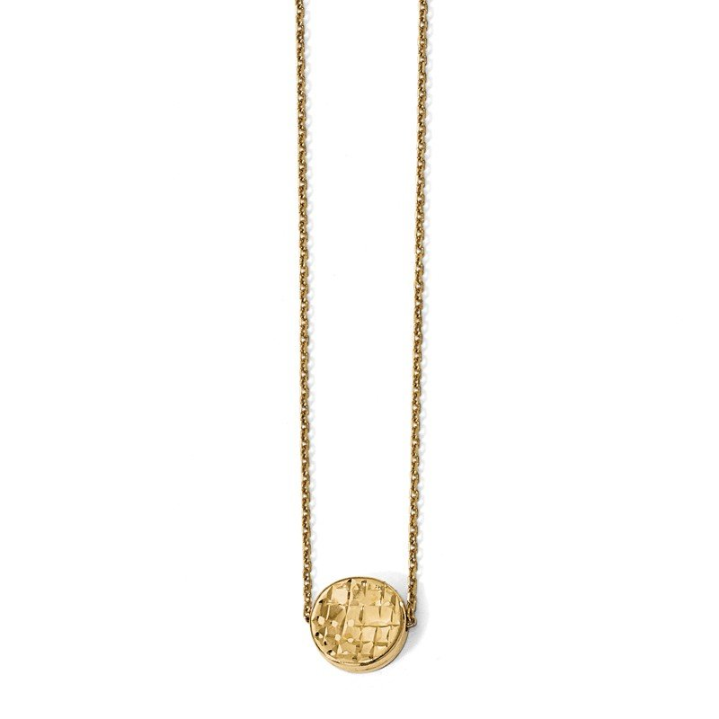 Leslie's Italian Gold Leslie's 14K Polished D/C Round Necklace