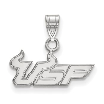 Sterling Silver University of South Florida NCAA Pendant