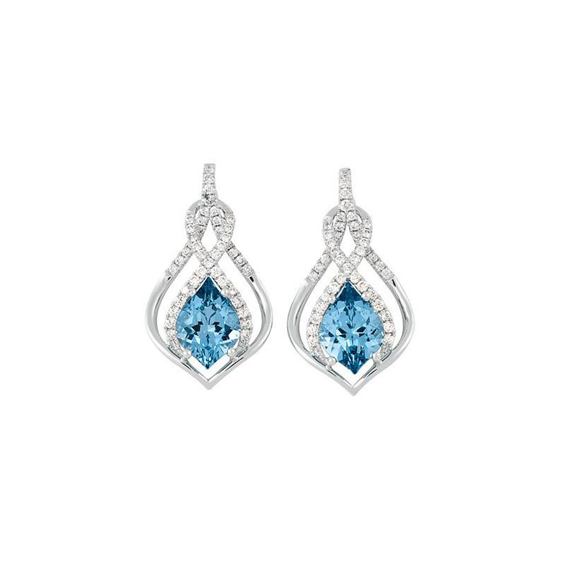 Aqua Blue Spinel Earrings-CE4008WAQ