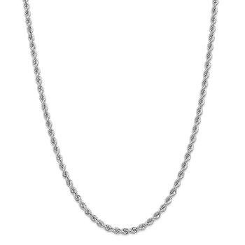 14k WG 4.0mm Regular Rope Chain