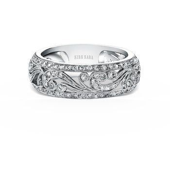 Vine Intricate Diamond Wedding Band