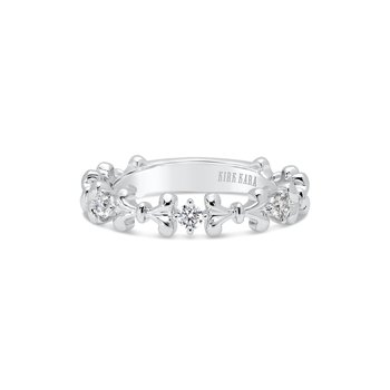 Kirk Kara 14K White Gold Bow Diamond Band