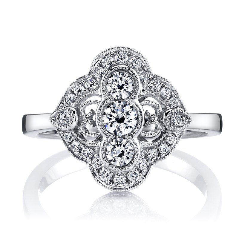 MARS Jewelry MARS 25348 Diamond Engagement Ring 0.56 Ctw.