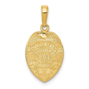 14k Police Officer Badge Pendant