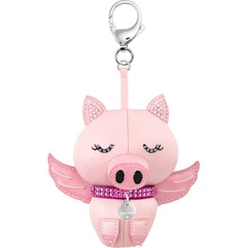 Bu Bu Bag Charm, Pink, Rhodium plating
