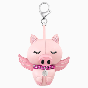 Bu Bu Bag Charm, Pink, Stainless steel