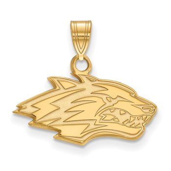 Gold University of New Mexico NCAA Pendant