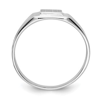 14k White Gold 5.25x5.0mm Childs Signet Ring