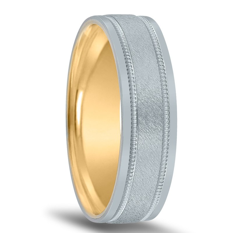 Novell Men's Unique Inside Out Wedding Band - XNT16966