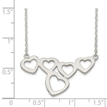 Sterling Silver Polished Heart Necklace