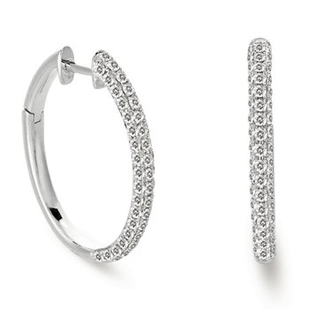 Diamond Hoop Pave Earring