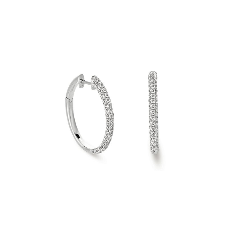 S. Kashi  & Sons Diamond Hoop Pave Earring
