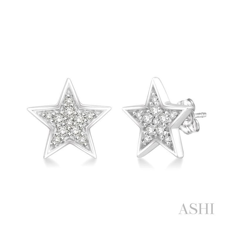 Crocker's Collection star diamond earrings