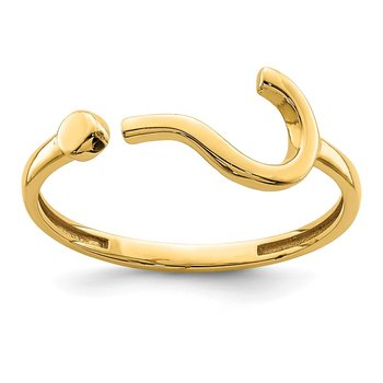 14K Question Mark Adjustable Ring