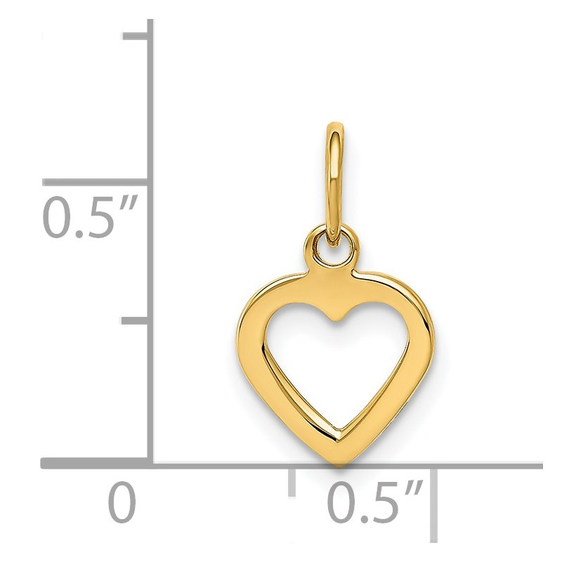 Quality Gold 14K Polished Cut-out Heart Pendant