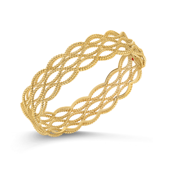 18Kt Gold 3 Row Bangle