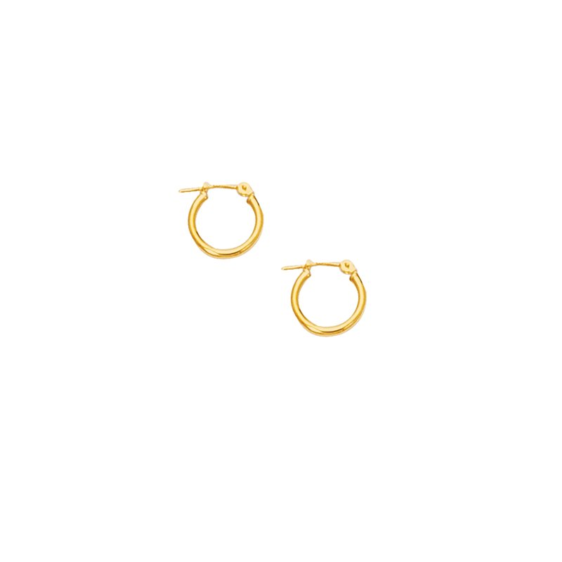 Royal Chain 10K Gold Mini 2mm Hoop Earring