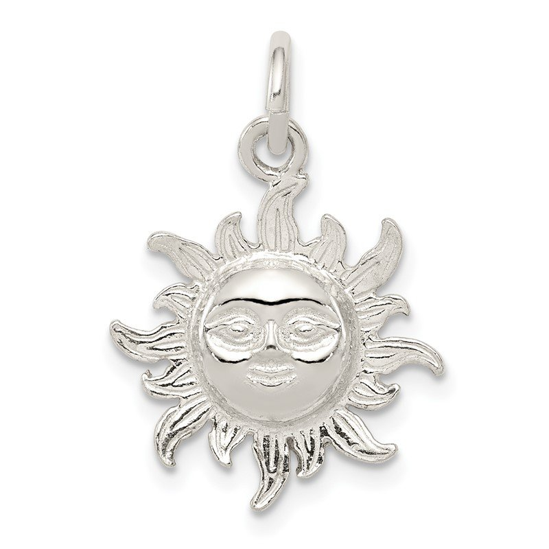 Quality Gold Sterling Silver Sun Charm