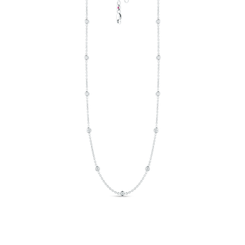 18Kt Gold 19 Station Diamond Necklace