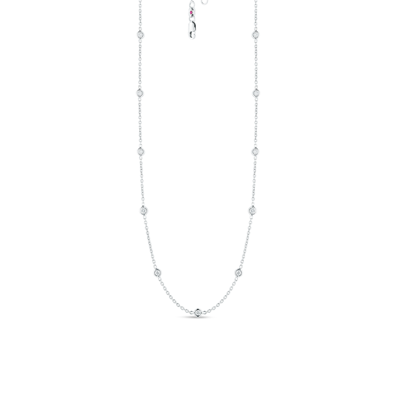 Roberto Coin 18Kt Gold 19 Station Diamond Necklace