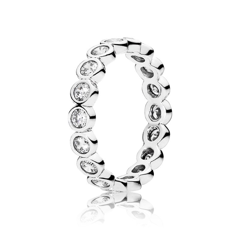 825ecd432 Pommier Jewellers: PANDORA Alluring Brilliant Stackable Ring, Clear Cz