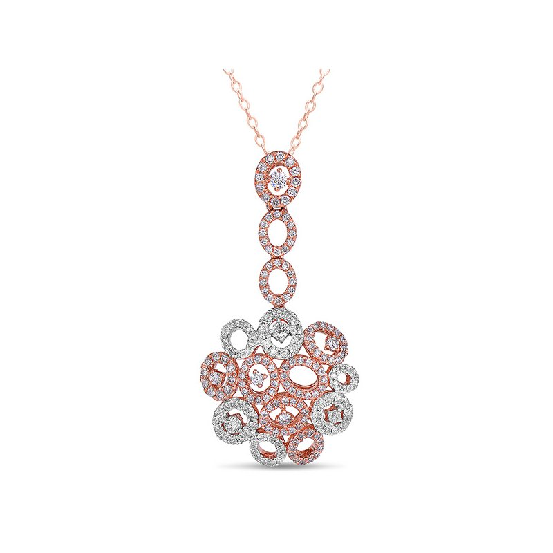 S. Kashi  & Sons White & Rose Gold Diamond Pendant
