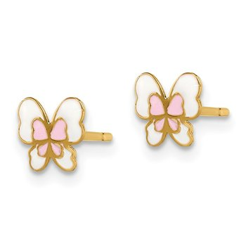 14k Madi K Enamel Butterfly Post Earrings