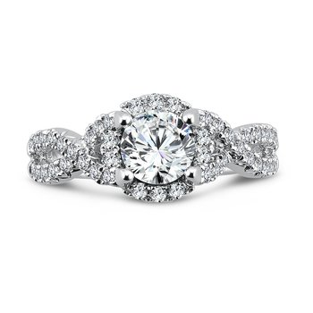 Luxury Collection Criss Cross Engagement Ring in 14K White Gold (3/4ct. tw.)